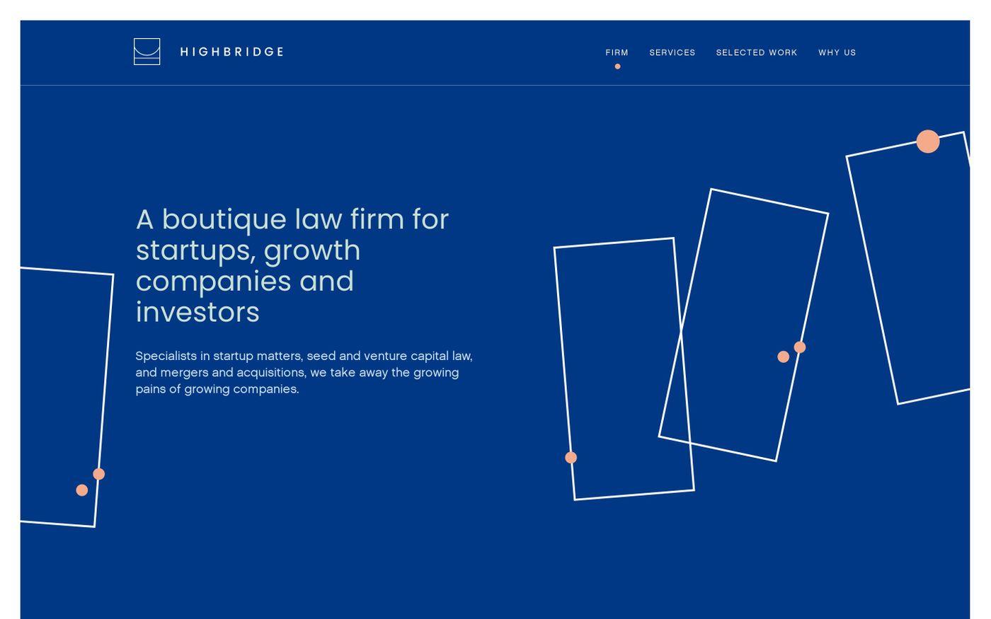 Screenshot of Highbridge - Highbridge Law Firm website
