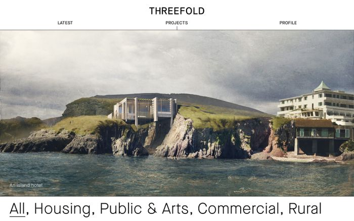 Screenshot of Projects | Threefold Architects — Innovative, exciting, contemporary architecture that delights visually and experientially