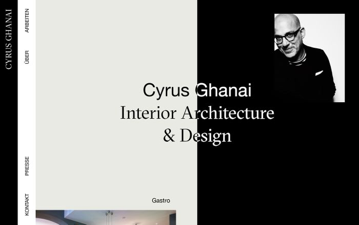 Screenshot of Cyrus Ghanai | Startseite