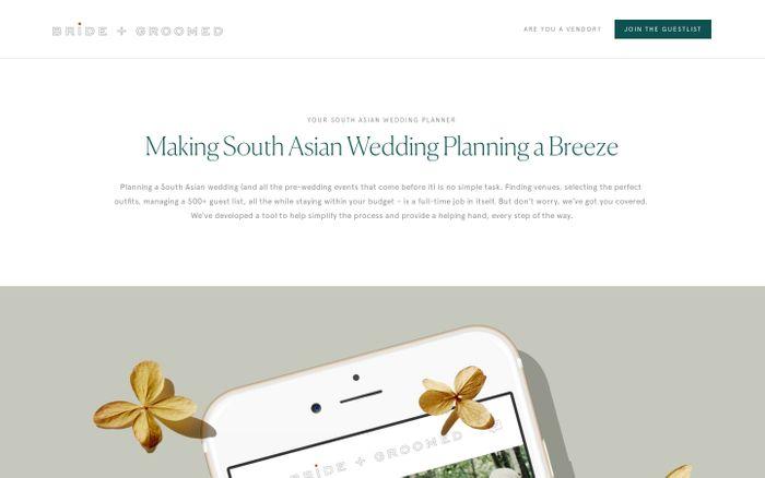Screenshot of Bride + Groomed