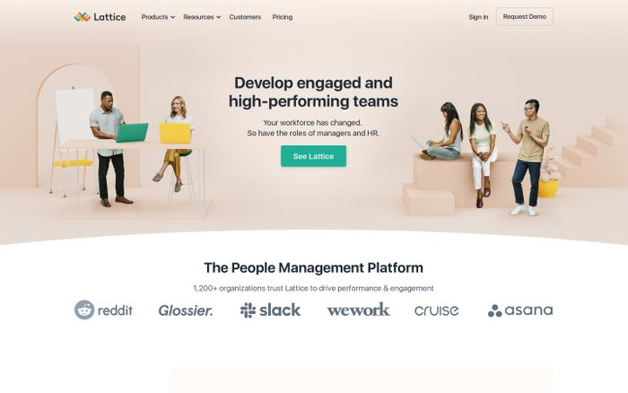 Screenshot of People Management | Performance and Engagement Software | Lattice