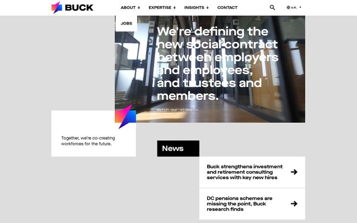 Screenshot of Buck | Human resources consulting, administration, technology