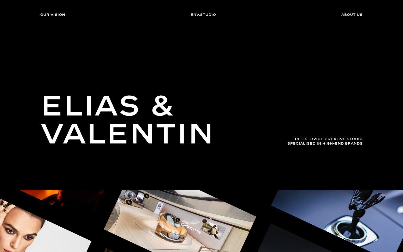 Screenshot of Env studio website