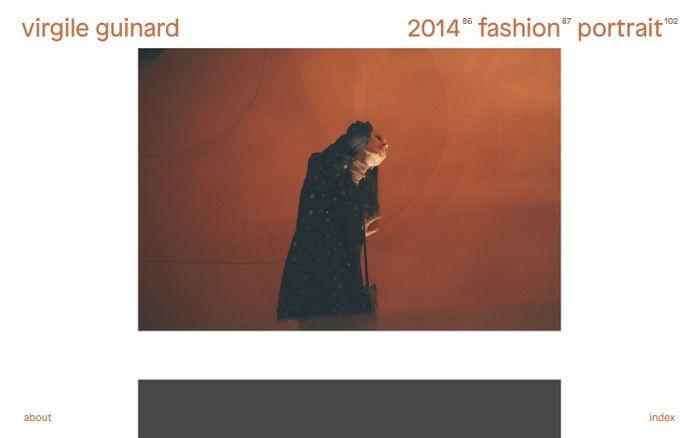 Screenshot of Virgile Guinard — Selected Work
