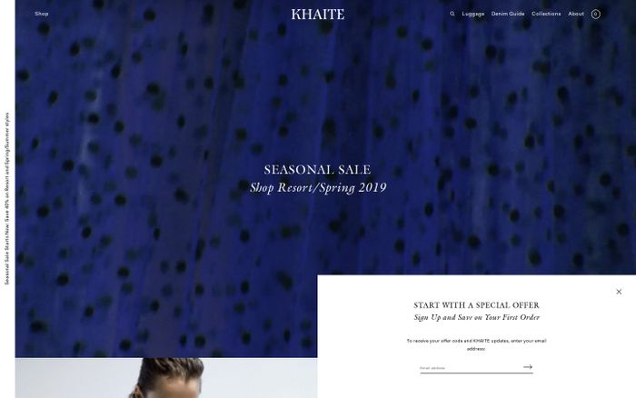 Screenshot of Khaite Official Website – KHAITE