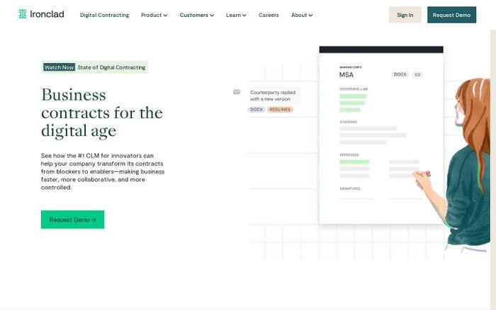 Screenshot of Ironclad website