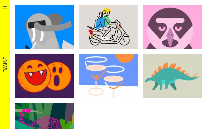 Screenshot of JMWL Studio | London based Illustrator and graphic artist working in the fields of Design, Advertising and Publishing