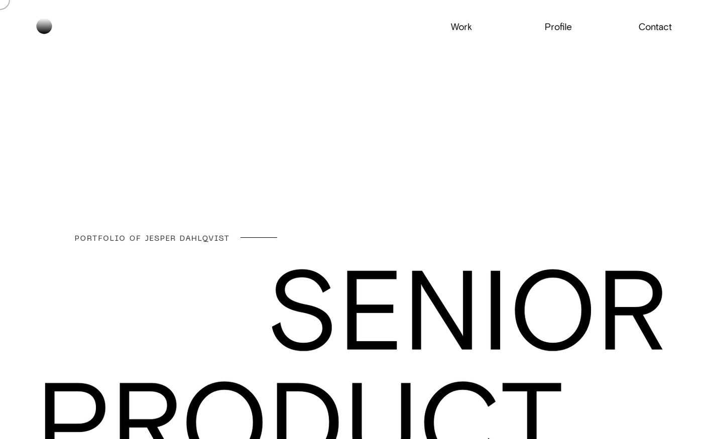 Screenshot of Jesper Dahlqvist website