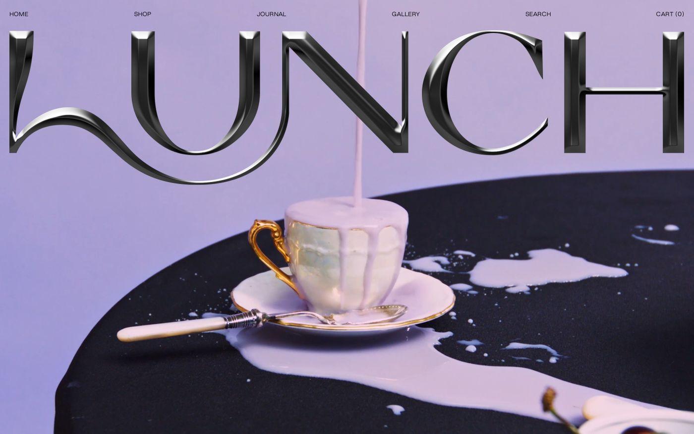 Screenshot of Lunch concept website