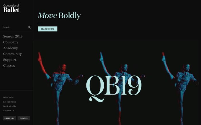 Screenshot of Queensland Ballet
