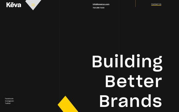 Screenshot of Building Better Brands | Keva