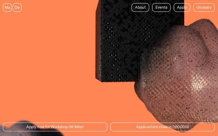 Screenshot of Made website
