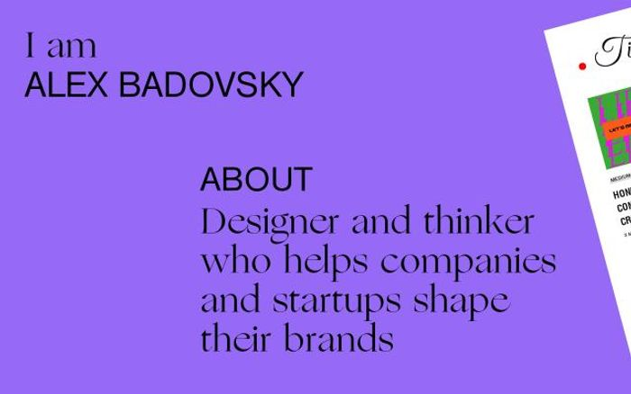 Screenshot of Alex Badovsky website