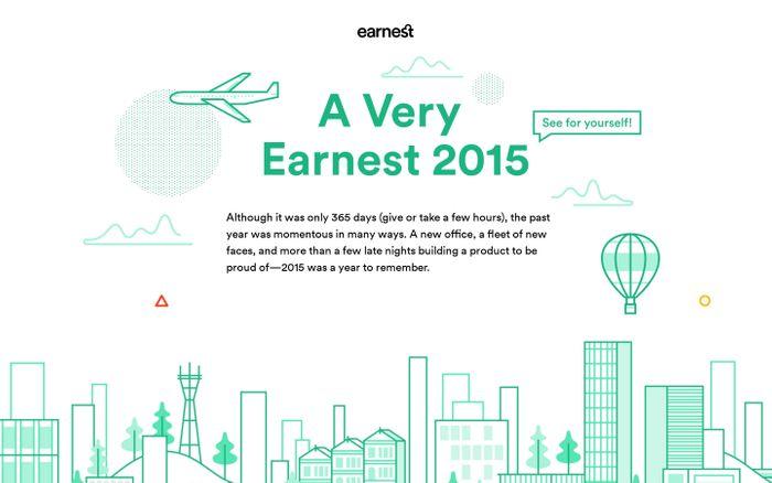 Screenshot of Earnest - 2015 in Review