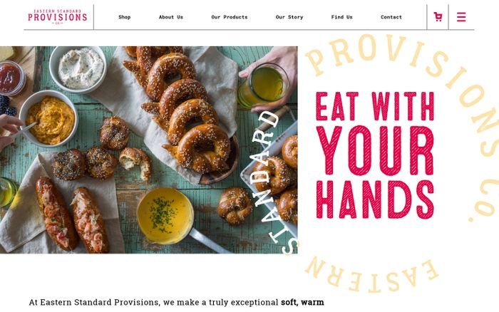 Screenshot of Gourmet Unique Artisanal Pretzels Online - Bulk Wholesale Available