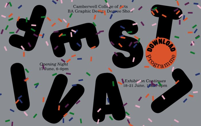 Screenshot of Camberwell College of Arts Festival website