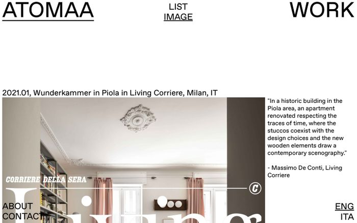 Screenshot of ATOMAA website