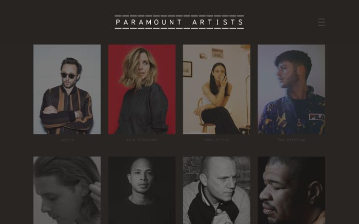 Screenshot of Paramount Artists