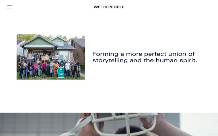 Screenshot of We The People