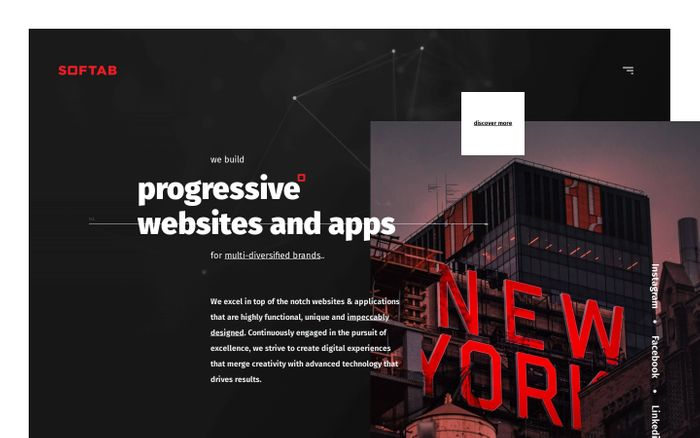 Screenshot of Softab | Living websites for brands dying to grow.