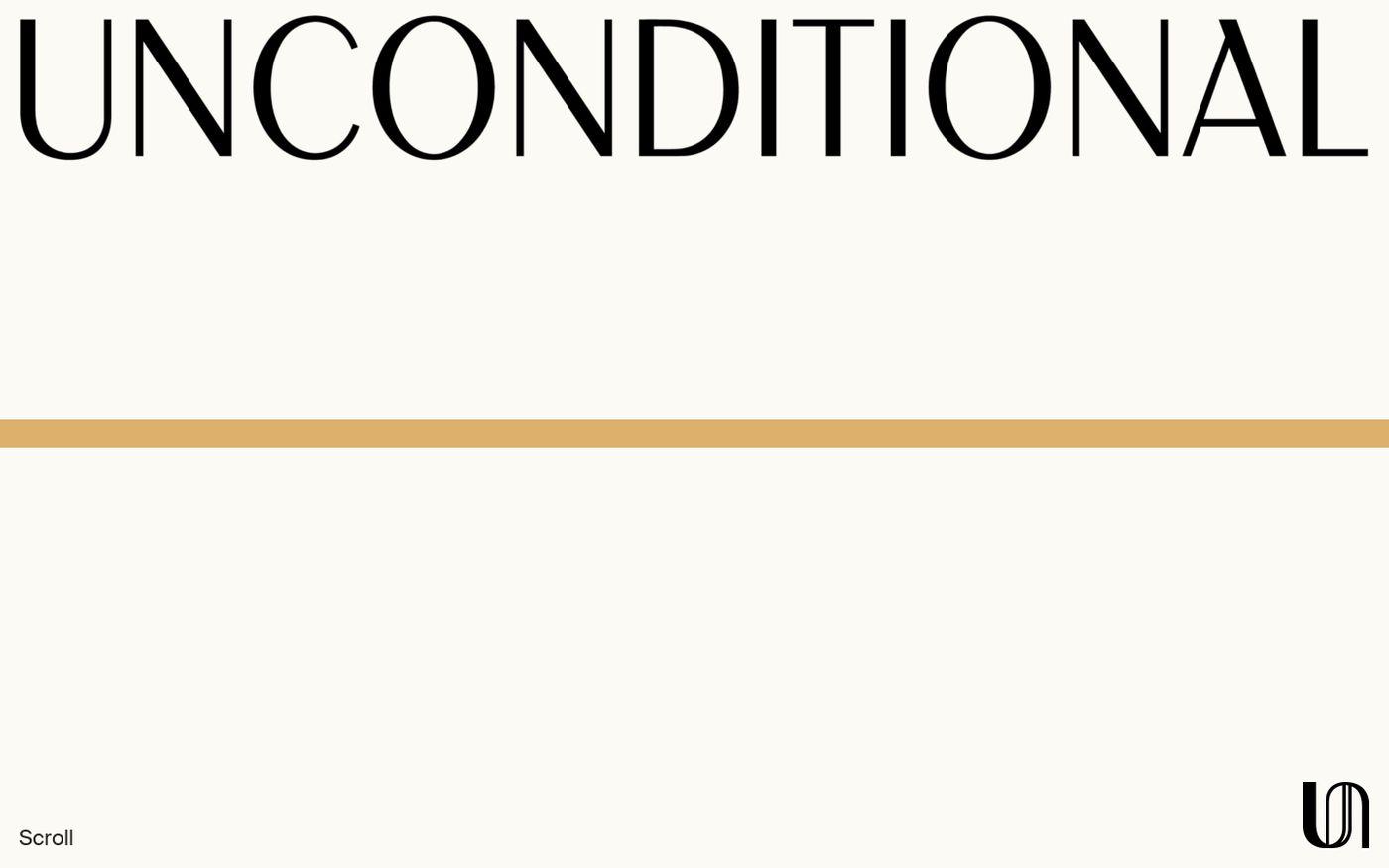 Screenshot of Unconditional magazine website