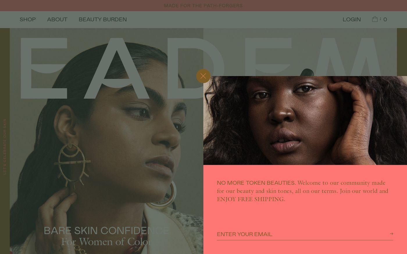 Screenshot of Eadem website