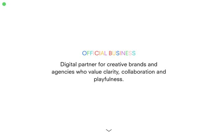 Screenshot of Official Business website
