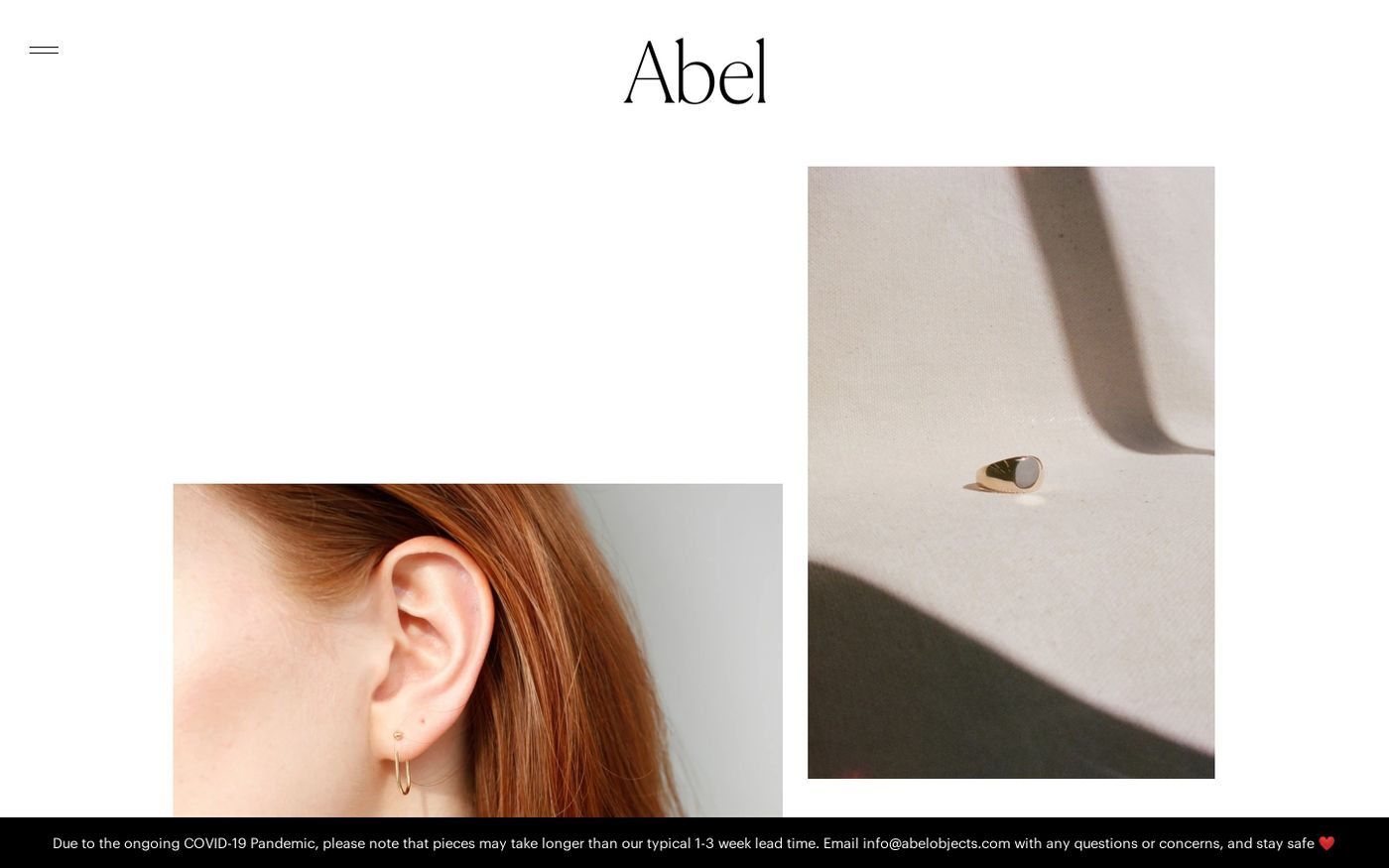 Screenshot of Abel website