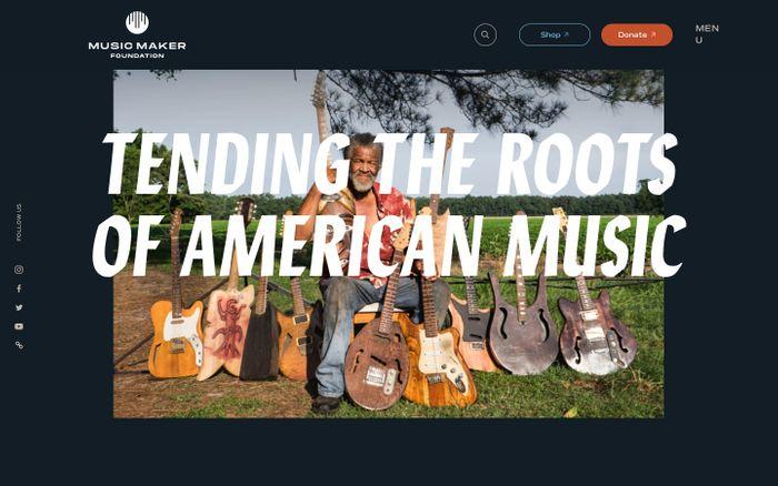 Screenshot of Music Maker website