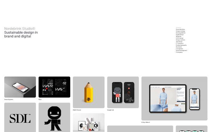 Screenshot of Nordebrink Studio website