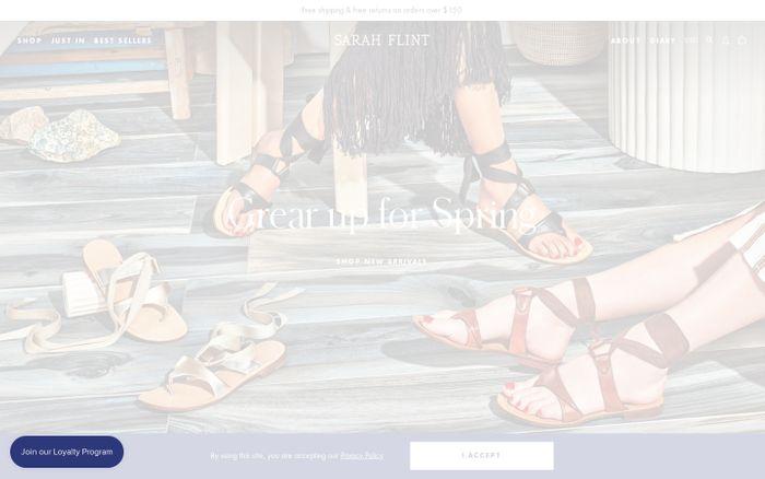 Screenshot of Sarah Flint   Handcrafted Designer Shoes