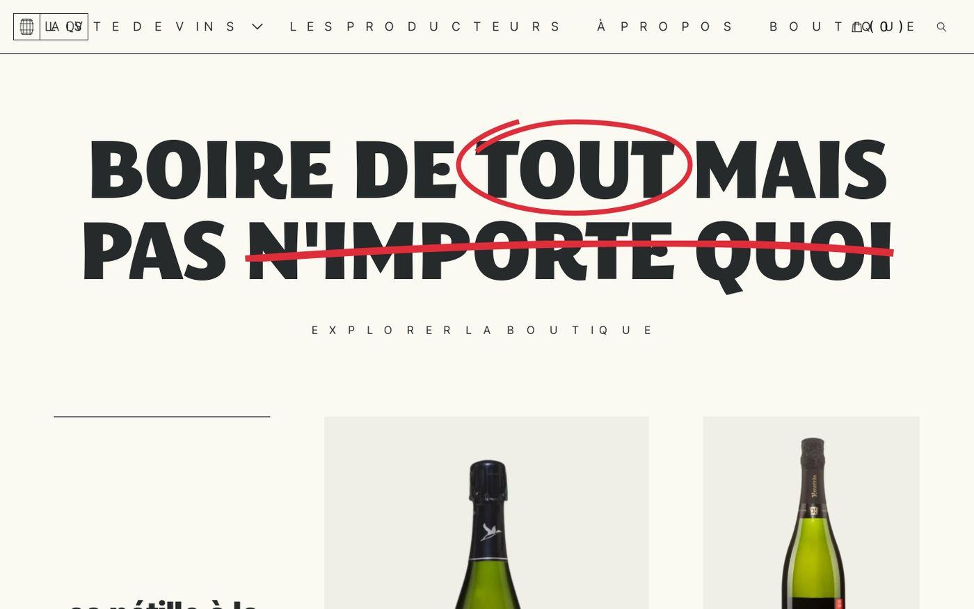 Screenshot of La QV website