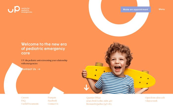 Screenshot of Centre for pediatric emergencies