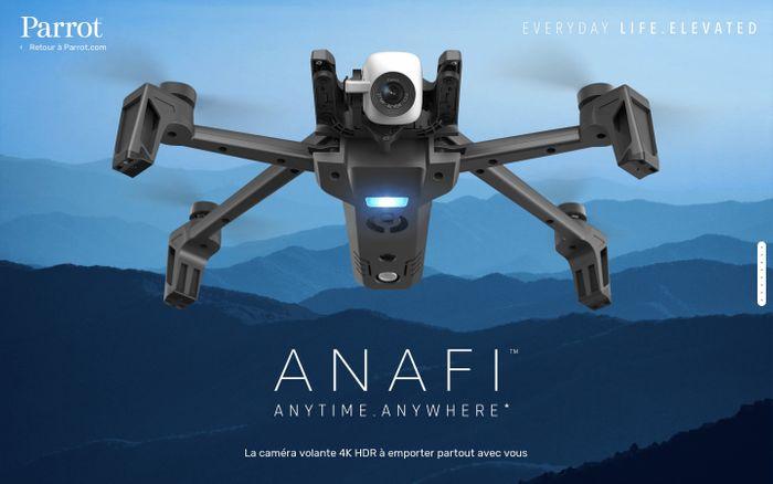 Screenshot of Anafi website