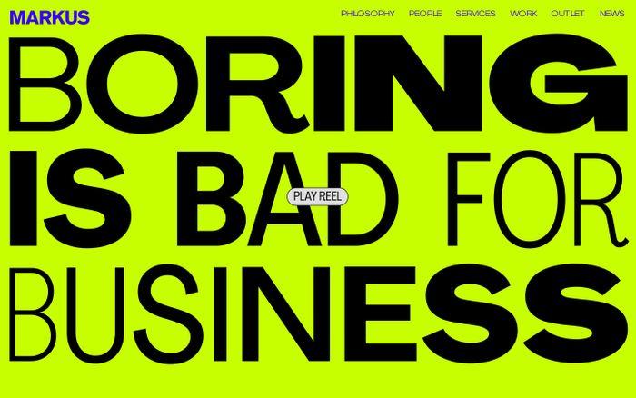 Screenshot of Markus - Kreativ reklambyrå | Markus - Kreativ reklambyrå