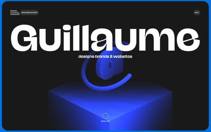 Screenshot of Guillaume Beaulieu website