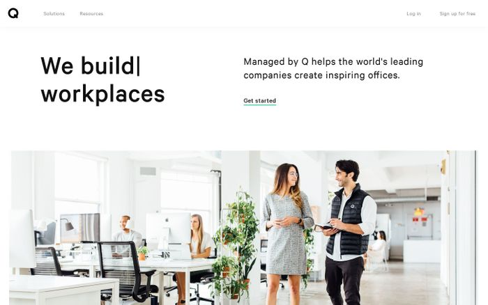 Screenshot of Managed by Q | We run workplaces