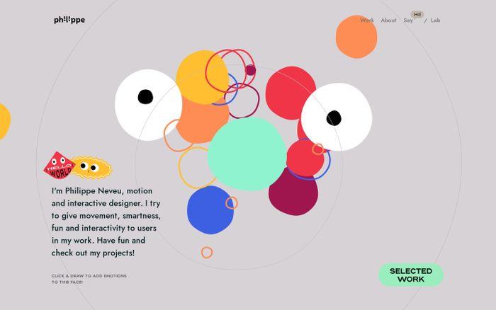 Screenshot of Philippe Neveu – Home