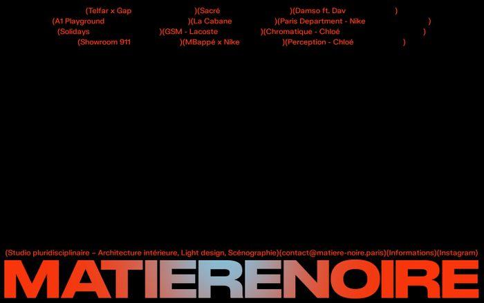 Screenshot of Matière noire