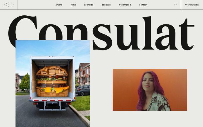 Screenshot of Consulat website