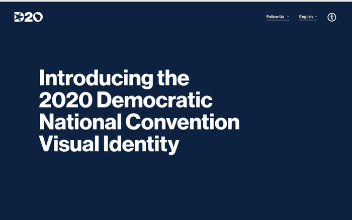 Screenshot of DNC Visual Identity