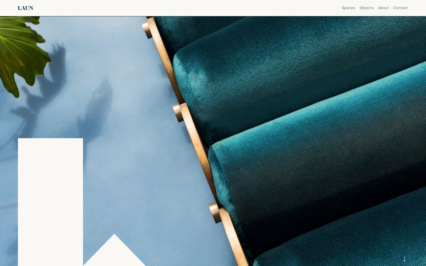 Screenshot of Laun website