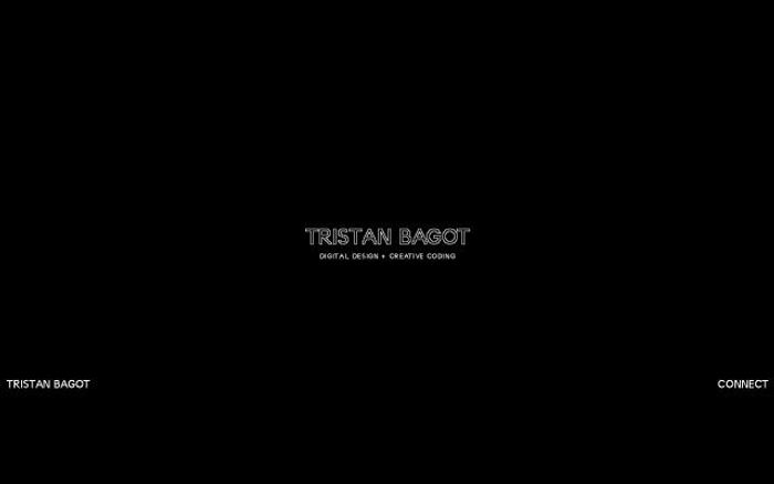 Screenshot of Tristan bagot website