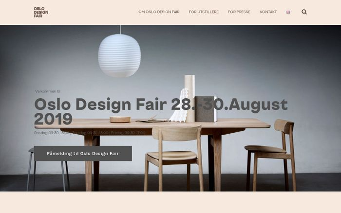 Screenshot of OSLO DESIGN FAIR -