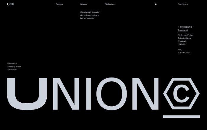 Screenshot of Union website