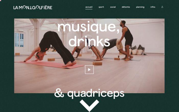 Screenshot of La Montgolfière website