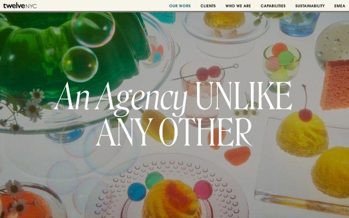 Screenshot of twelveNYC website