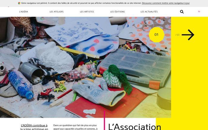 Screenshot of ADÉRA association des écoles supérieures d'art et de design