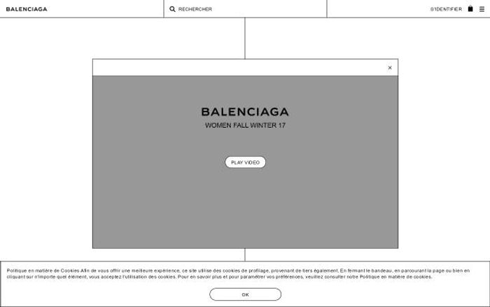 Screenshot of Balenciaga