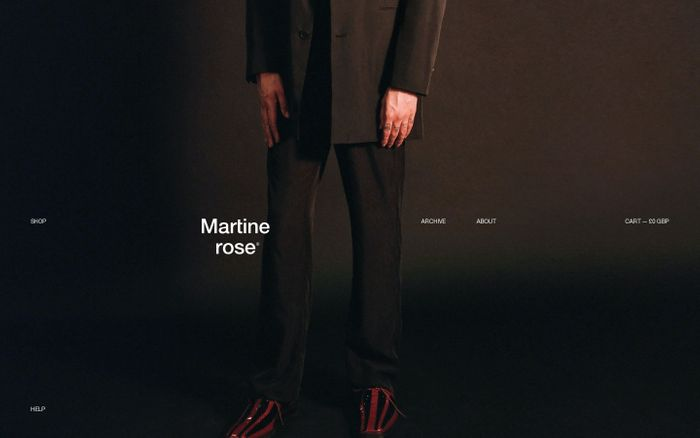 Screenshot of Martine Rose website